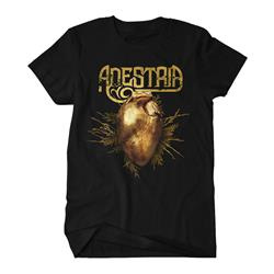Gilded Hearts Art Black T-Shirt