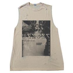 Buried Custom Destroyed Sleeveless Natural Shirt