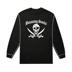 Jolly Roger Black/Grey Thermal Long Sleeve
