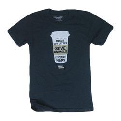 Drink Lattes, Save Animals Heather Navy