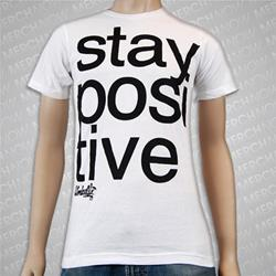 Stay Positive White