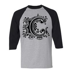 C Logo Heather/Black Baseball Shirt