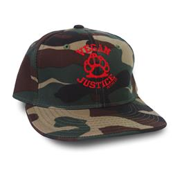 Motive Company Vegan Justice  Camo Hat Extra Small