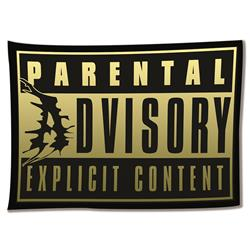 Parental Advisory Wall Flag