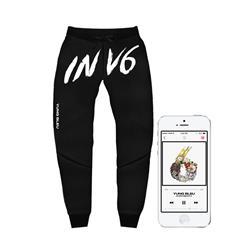 INV6 Black Jogger Pants + Album Digital Download
