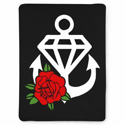 Anchor Rose Fleece Blanket