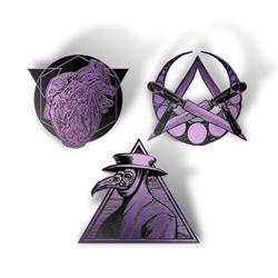 Gravebloom  3 Set Enamel  Pack