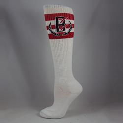 B Wreath White Socks