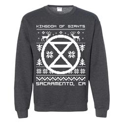 Kingdom of Giants - Holiday Sweater Dark Heather Crewneck