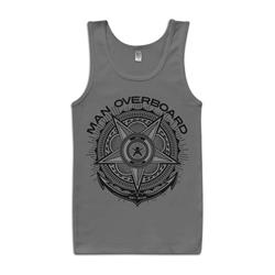 Crest Heather Gray Tank Top