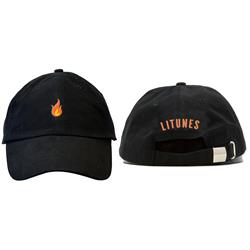 Flame Black Dad Hat