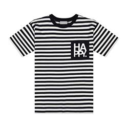 Logo Black & White Stripe
