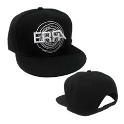 Circle Logo Black Snapback Hat