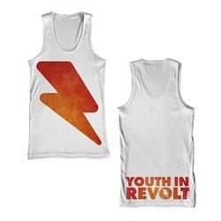 Lightning Bolt White Tank Top *Final Print!*