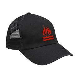 Red Logo Embroidered Black