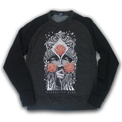 Refuse Charcoal Heather/Black Crewneck