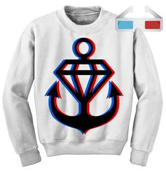 3D Logo Crewneck & 3D Glasses