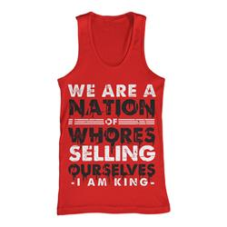 Nation Of Whores Red Tank Top