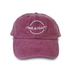 Logo Pigment Dye Red Dad Hat