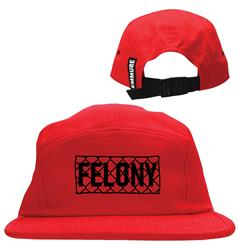 Chainlink Red Camp Hat