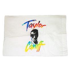 Taylor Face White Pillow Case