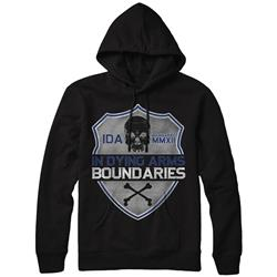 Shield Black Hooded Sweatshirt