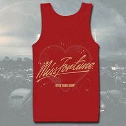 Open Your Heart Red Tank Top