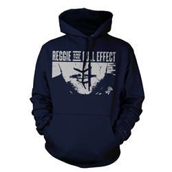 Stache Blue Hooded Sweatshirt