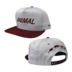 Animal Grey / Maroon Snapback