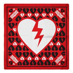 Broken Heart Red Bandana