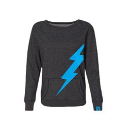 Lightning Logo Charcoal Girl's Crewneck