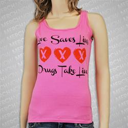 Love Takes Lives Pink Girl's Tank Top