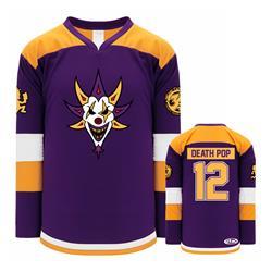 Death Pop Album Purple-Gold-White Hockey