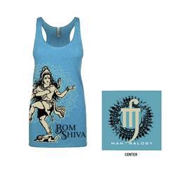 Bom Shiva Tahiti Blue Racerback Tank