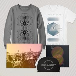 Connector CD + Atom T-Shirt + Crewneck Sweatshirt + Snapbakc Hat + Signed Live Picture Bundle