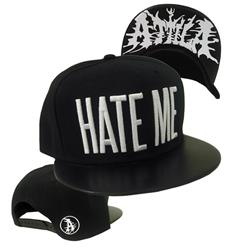 Hate Me Faux Leather Snapback