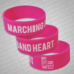Marching Band Heart Pink W/ White