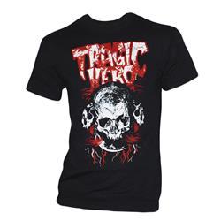 Red Print Skull Black