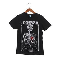 Alone Skeleton Black T-Shirt