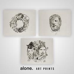 alone. Art Prints - Set of 3