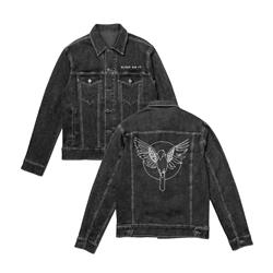 Bird Black Embroidered Denim