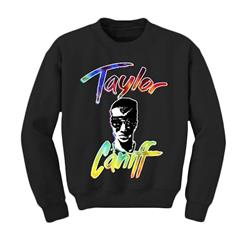 Taylor Face Black Crewneck