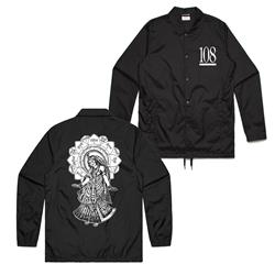 Radha Black Windbreaker