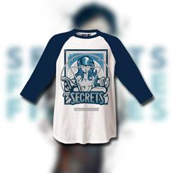 Fragile Figures White/Blue BaseballTee