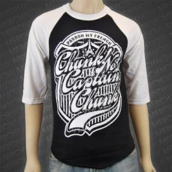 Pardon My French White/Black Baseball Shirt