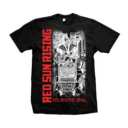 Polyester Zeal Black T-Shirt