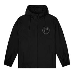 Circle Logo Black Windbreaker