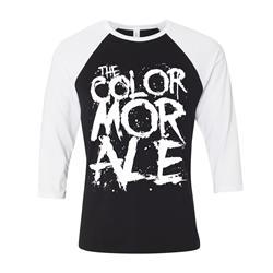 Murder Logo White/Black Baseball Shirt