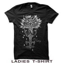 Aging Reflection Ladies Black T-Shirt