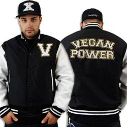 Vegan Power Varsity Black/White